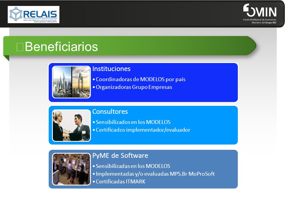 """Beneficiarios Instituciones Consultores PyME de Software"