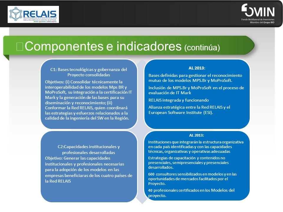 """""""Componentes e indicadores (continúa)"""