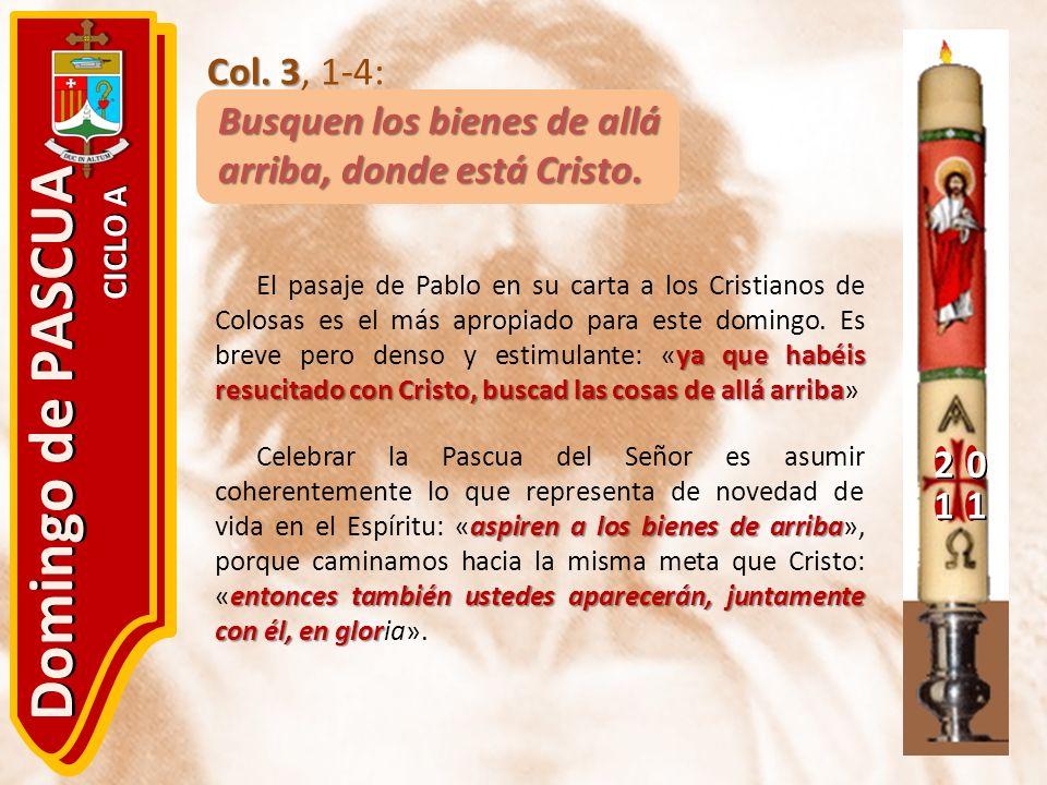 Domingo de PASCUA Col. 3, 1-4: