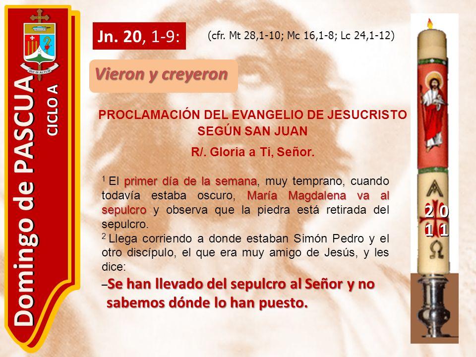 PROCLAMACIÓN DEL EVANGELIO DE JESUCRISTO