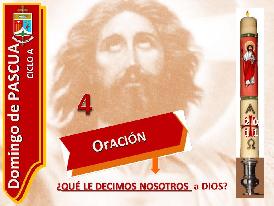 4 Domingo de PASCUA OrACIÓN 2 1 ¿QUÉ LE DECIMOS NOSOTROS a DIOS