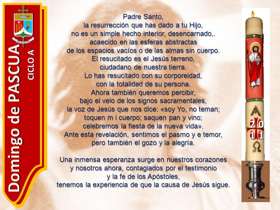 Domingo de PASCUA 2 1 CICLO A Padre Santo,