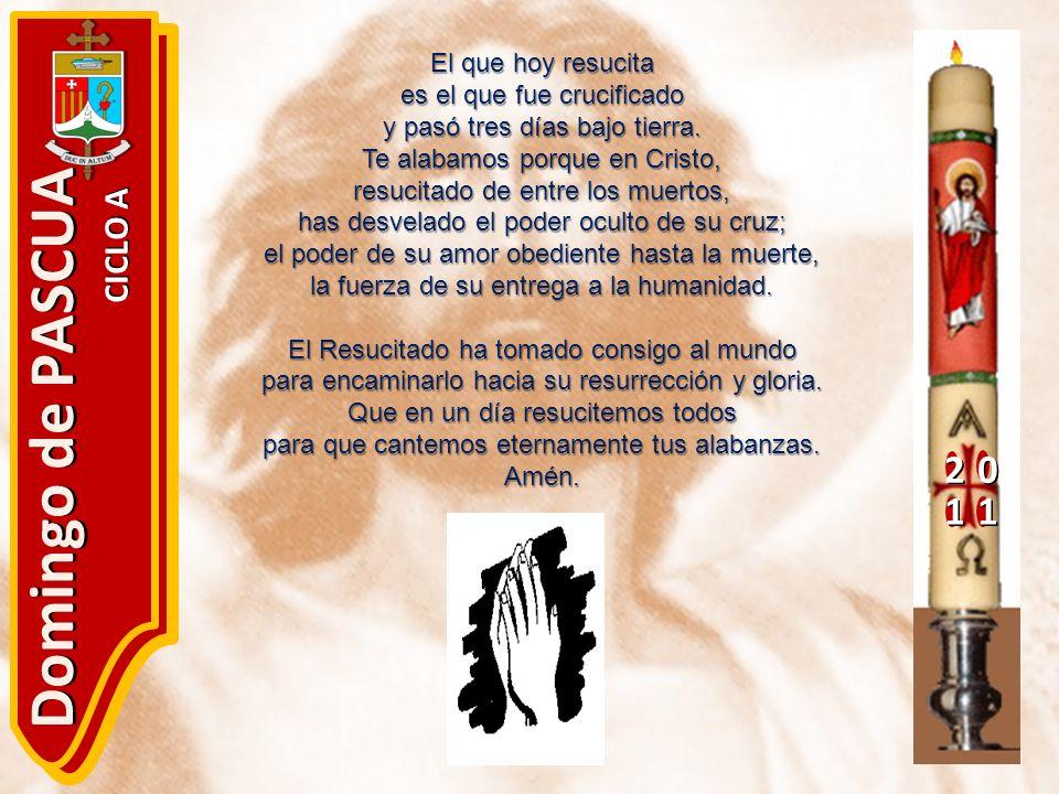 Domingo de PASCUA 2 1 CICLO A El que hoy resucita