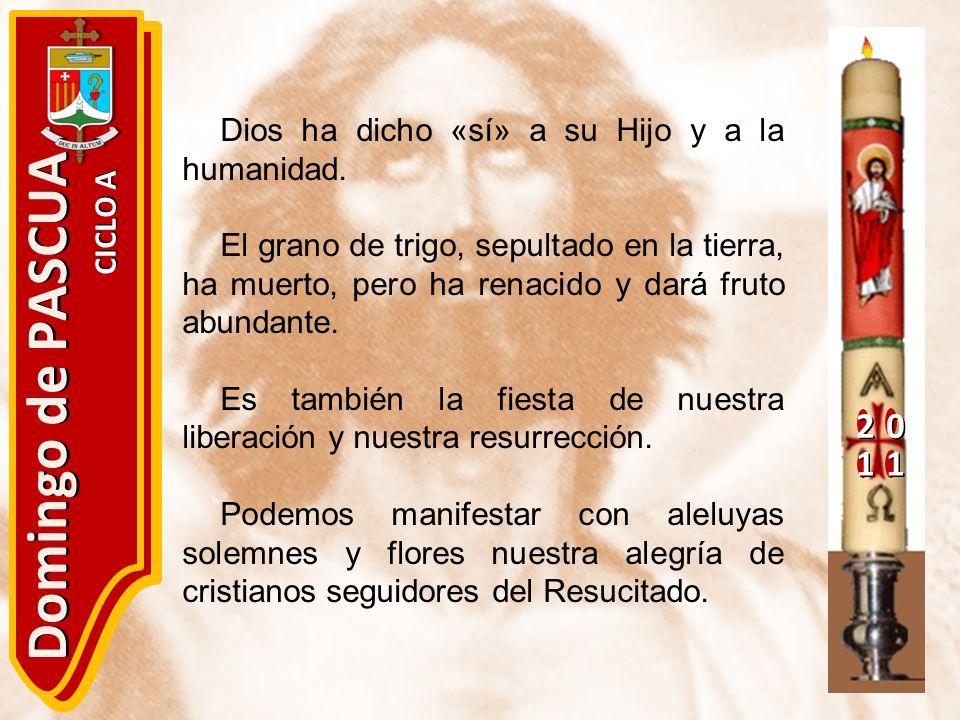 Domingo de PASCUA 2 1 Dios ha dicho «sí» a su Hijo y a la humanidad.