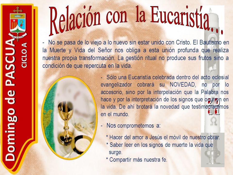 Relación con la Eucaristía…