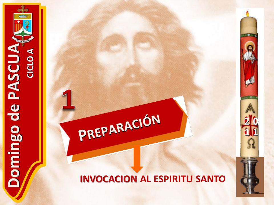 1 Domingo de PASCUA PREPARACIÓN 2 1 INVOCACION AL ESPIRITU SANTO