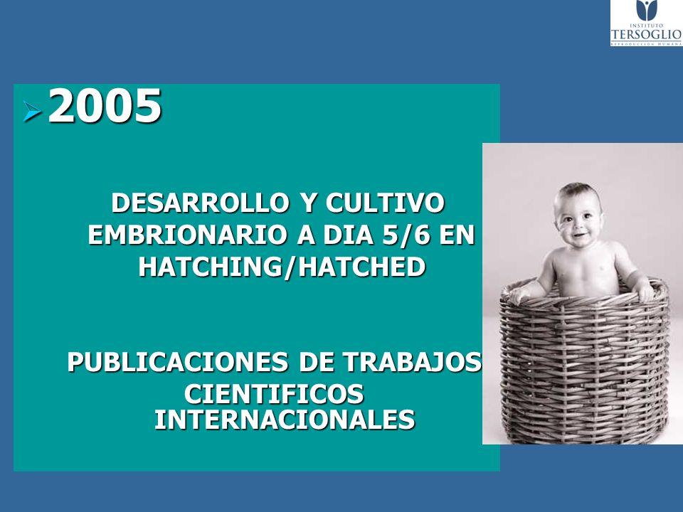 PUBLICACIONES DE TRABAJOS CIENTIFICOS INTERNACIONALES