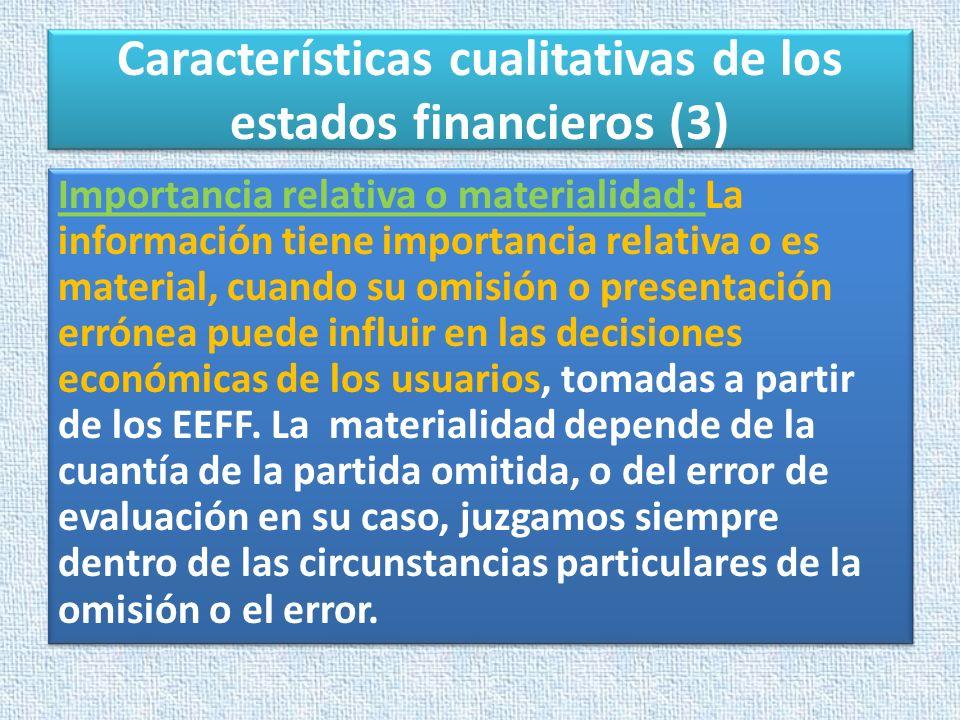 Características cualitativas de los estados financieros (3)