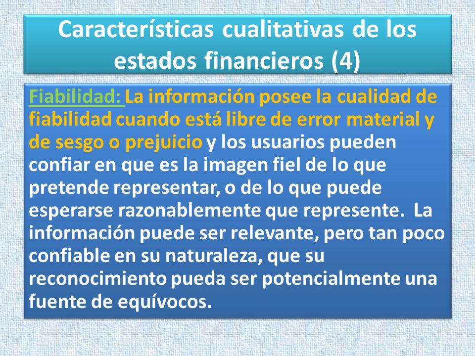 Características cualitativas de los estados financieros (4)