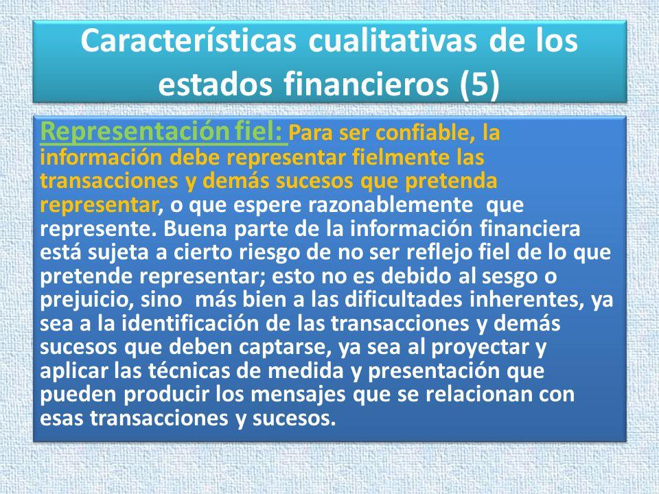 Características cualitativas de los estados financieros (5)