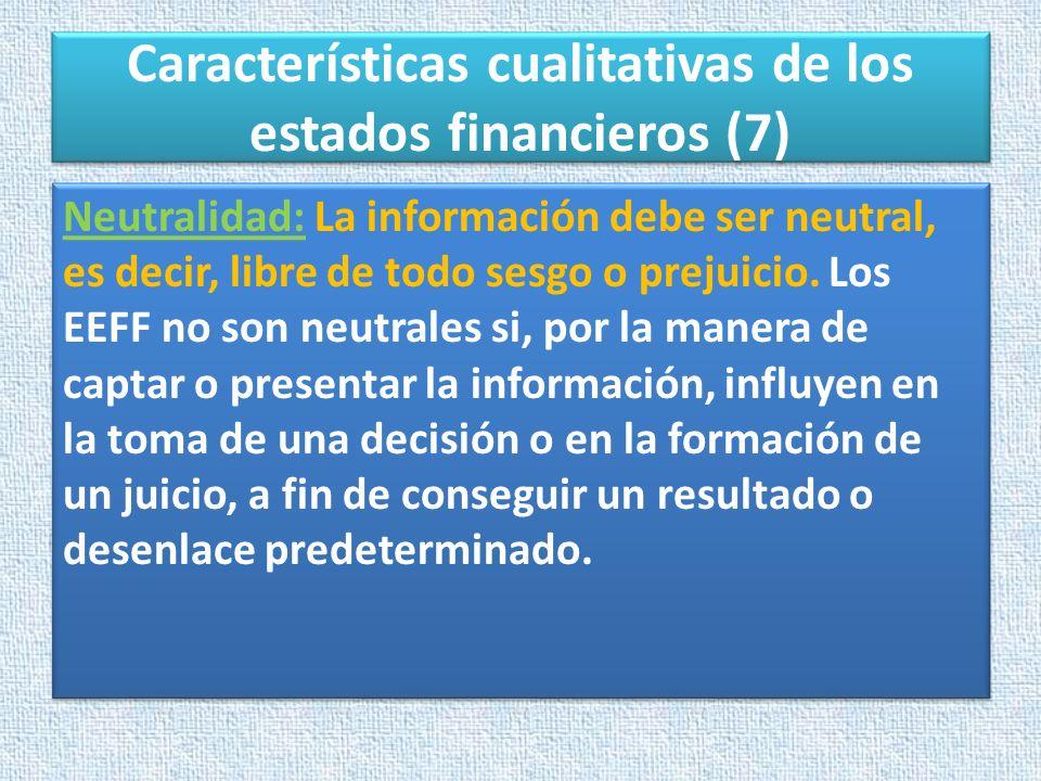 Características cualitativas de los estados financieros (7)