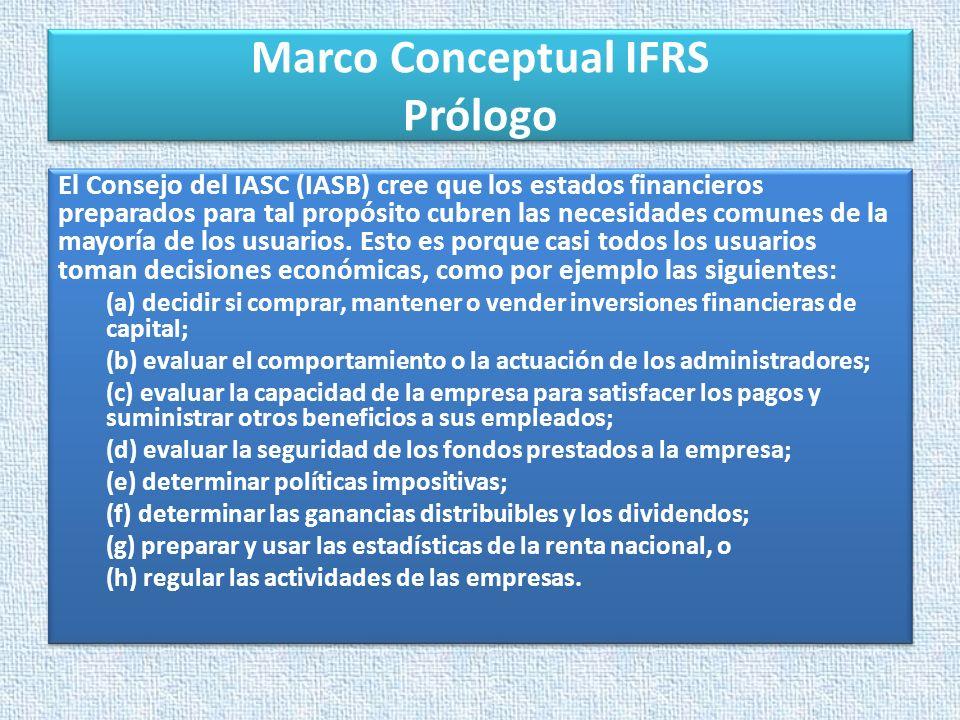 Marco Conceptual IFRS Prólogo