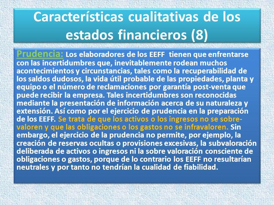 Características cualitativas de los estados financieros (8)