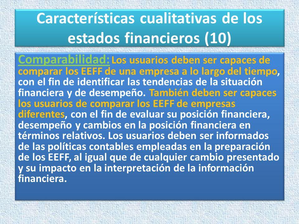 Características cualitativas de los estados financieros (10)