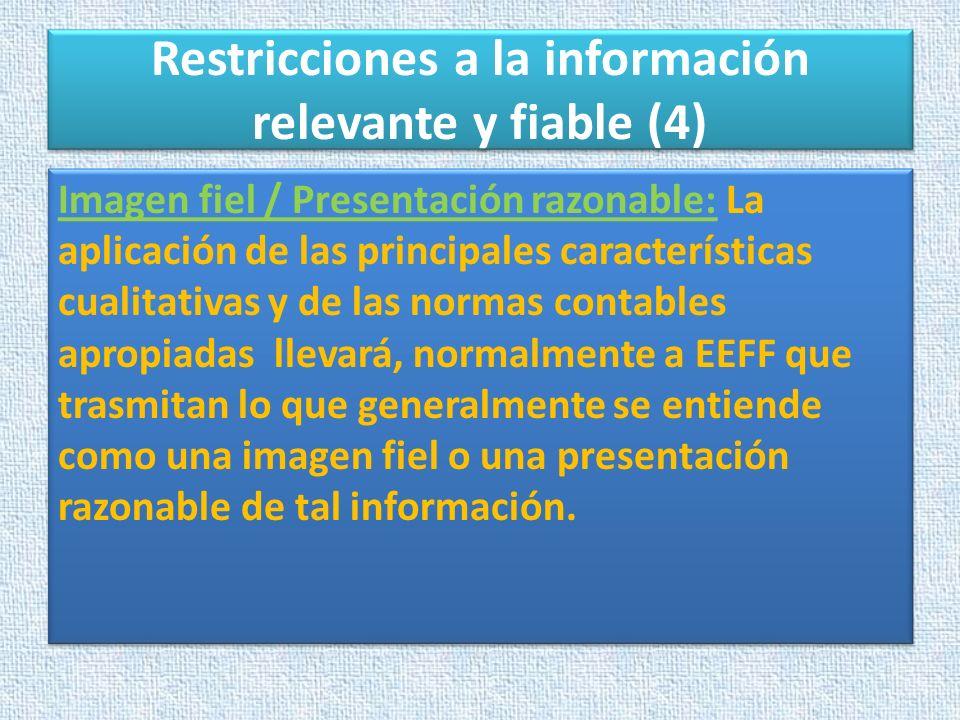 Restricciones a la información relevante y fiable (4)