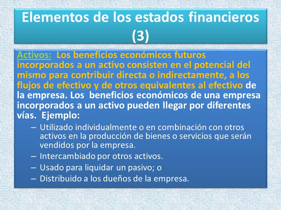 Elementos de los estados financieros (3)