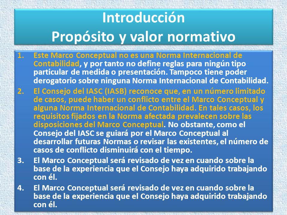 Introducción Propósito y valor normativo
