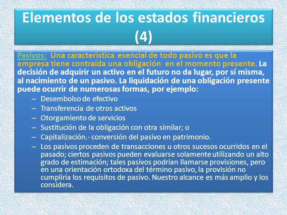 Elementos de los estados financieros (4)