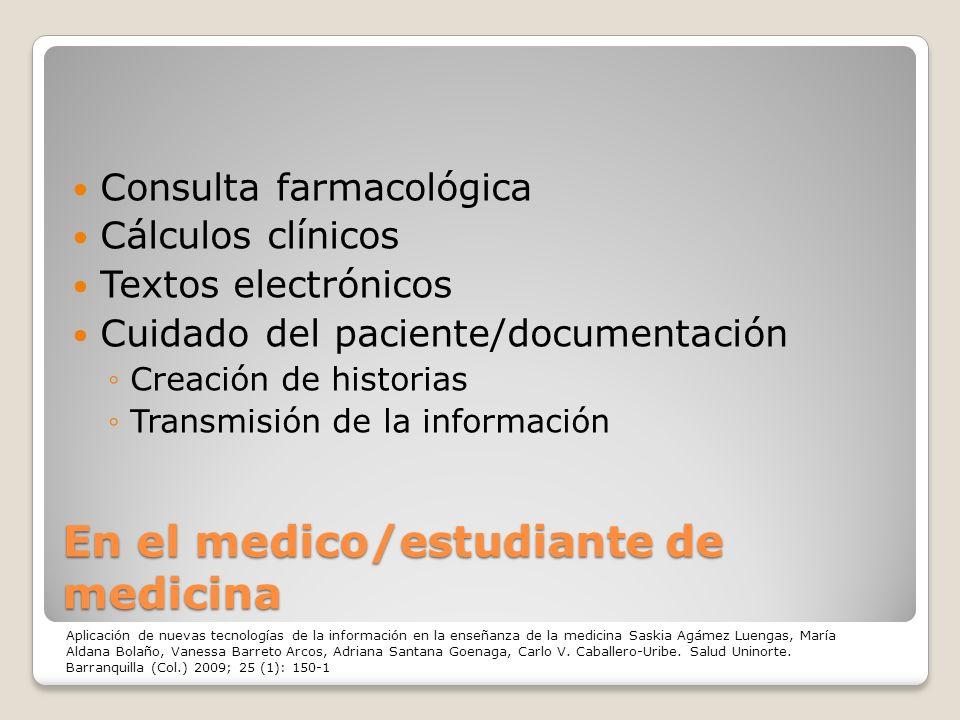En el medico/estudiante de medicina