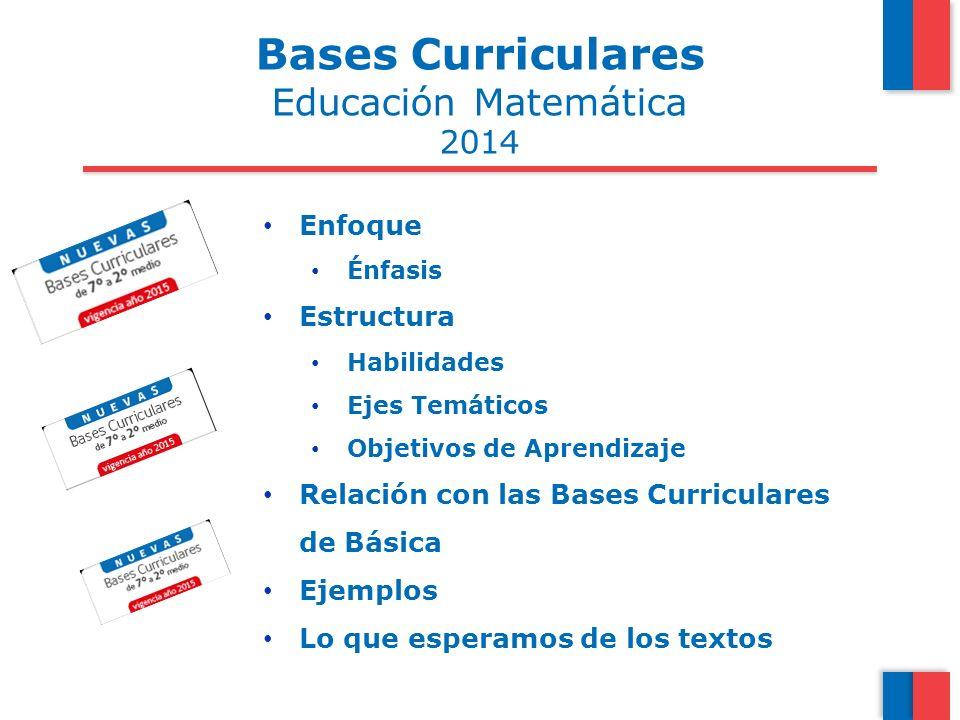 Bases Curriculares Educación Matemática 2014 Enfoque Estructura