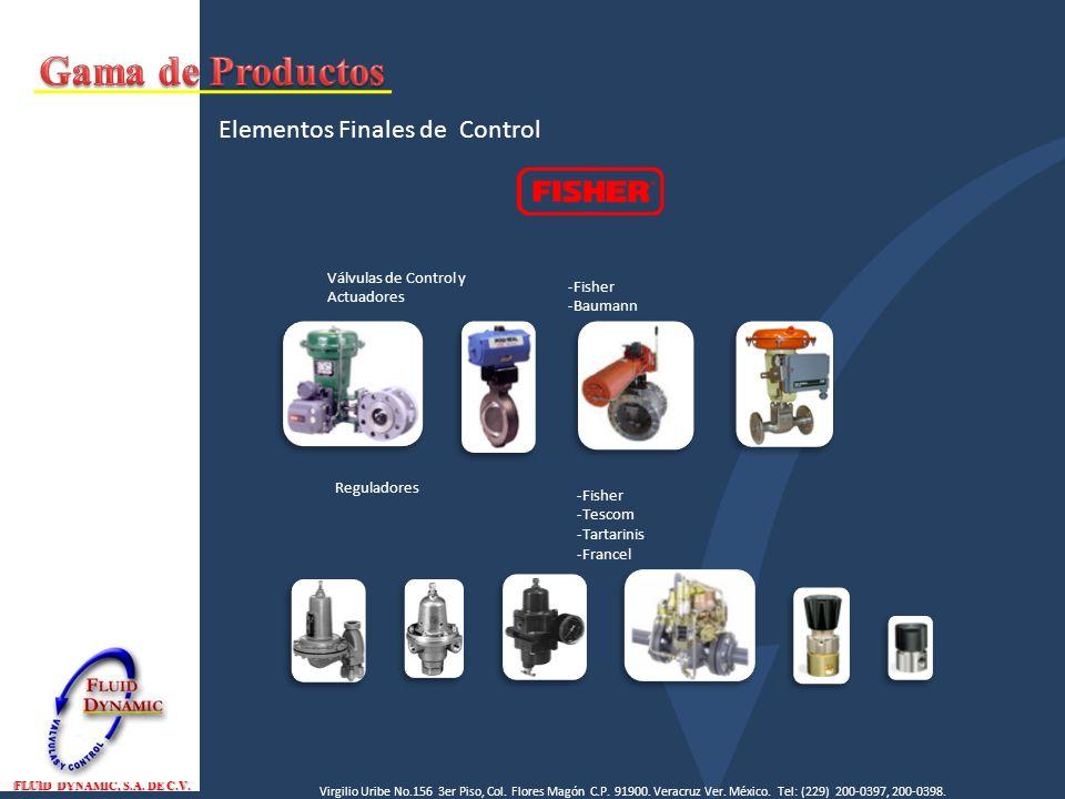 Gama de Productos Elementos Finales de Control