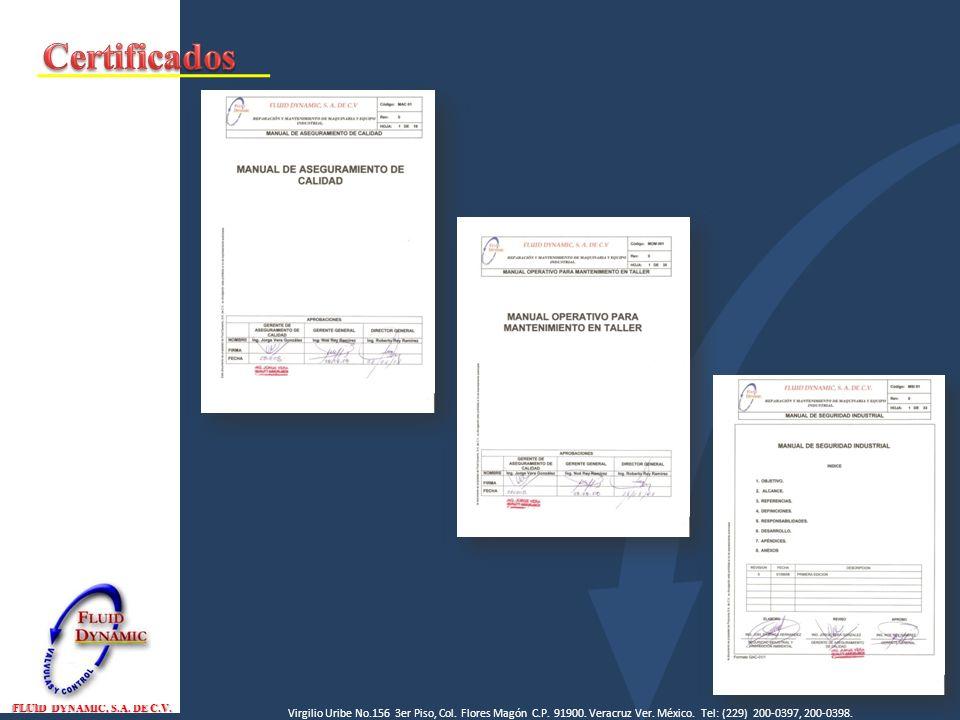Certificados FLUID DYNAMIC, S.A. DE C.V.