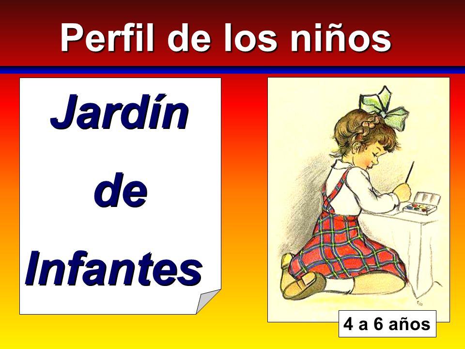 Perfil de los niños Jardín de Infantes 4 a 6 años