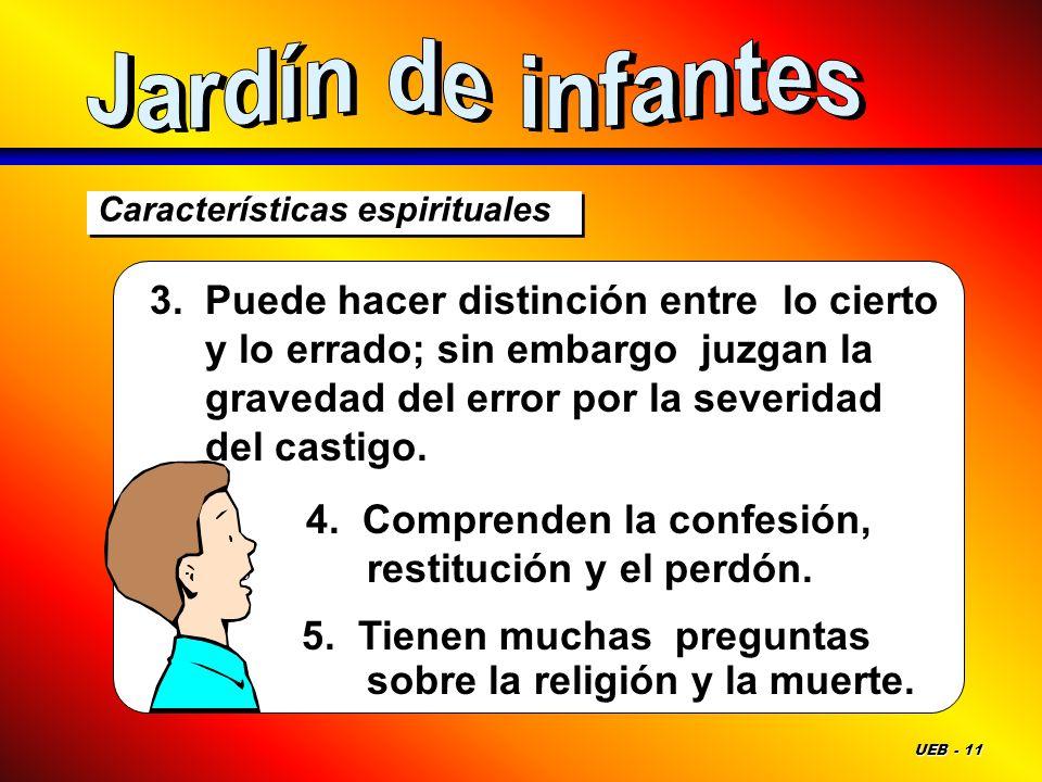 Jardín de infantes Características espirituales.