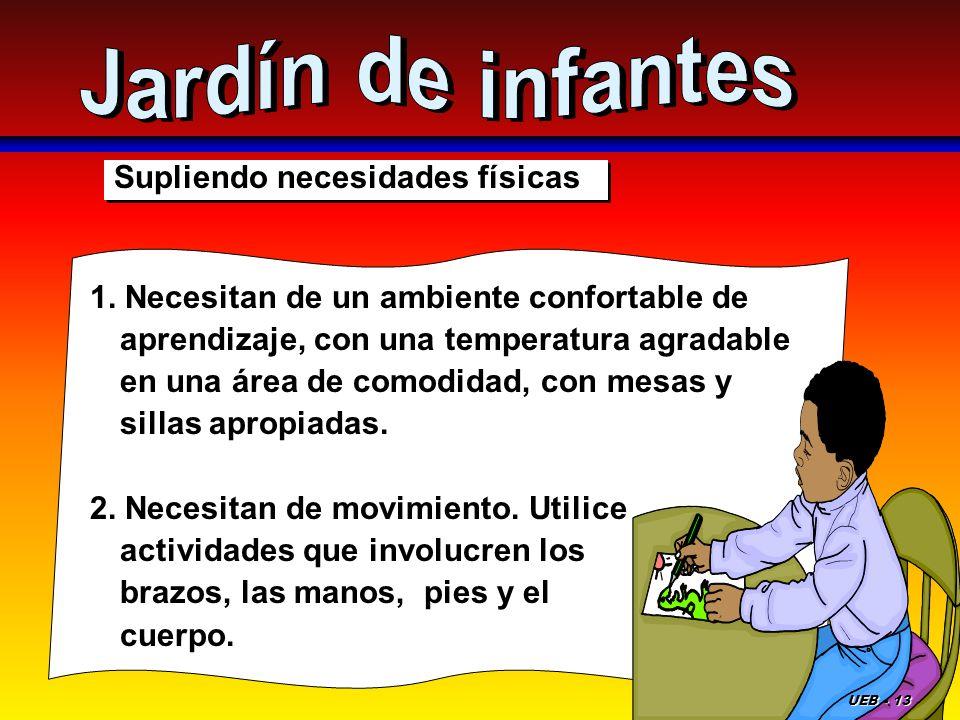 Jardín de infantes Supliendo necesidades físicas