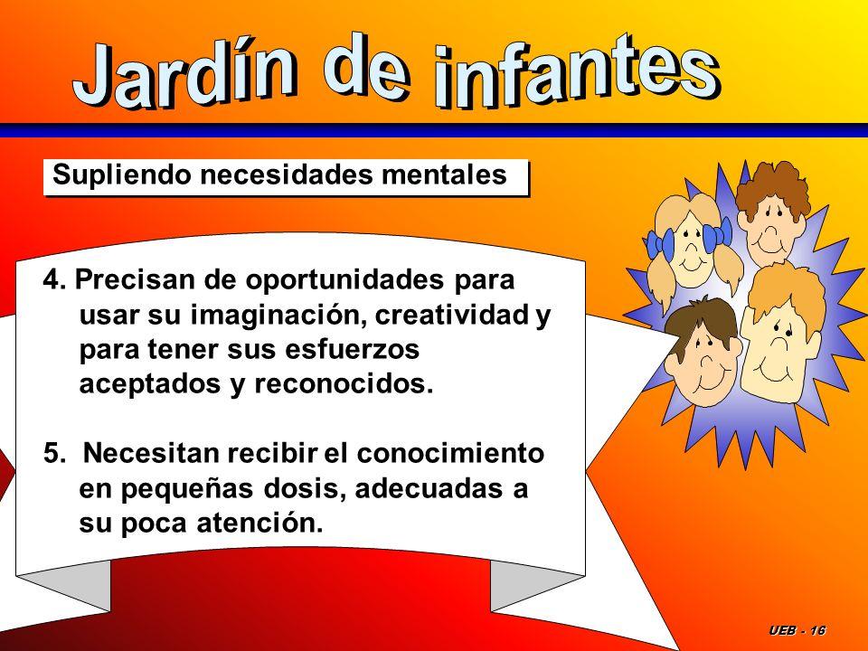 Jardín de infantes Supliendo necesidades mentales