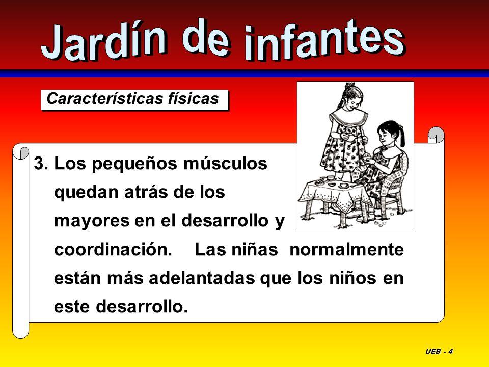 Jardín de infantes Características físicas.