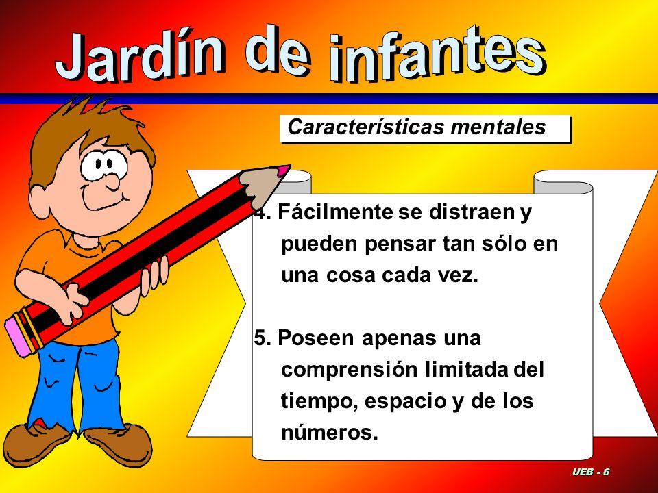 Jardín de infantes Características mentales