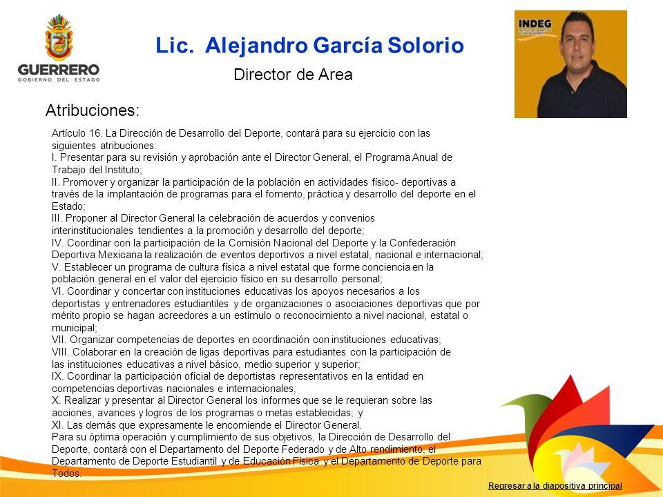 Lic. Alejandro García Solorio