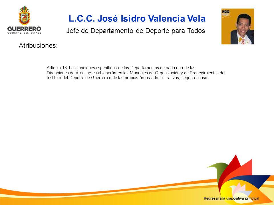 L.C.C. José Isidro Valencia Vela