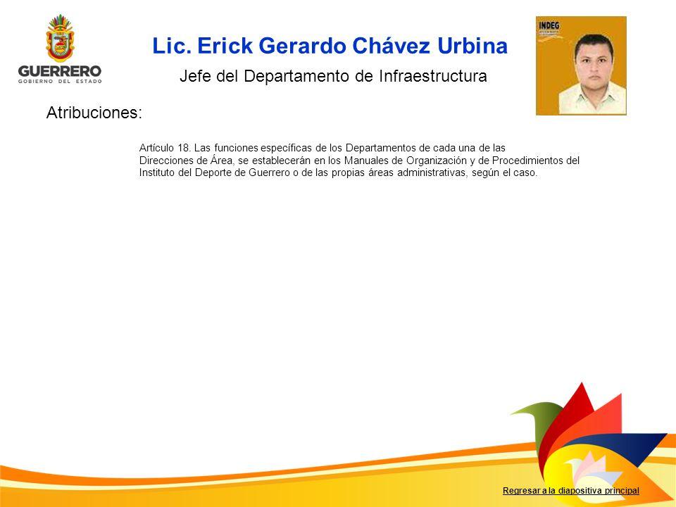 Lic. Erick Gerardo Chávez Urbina