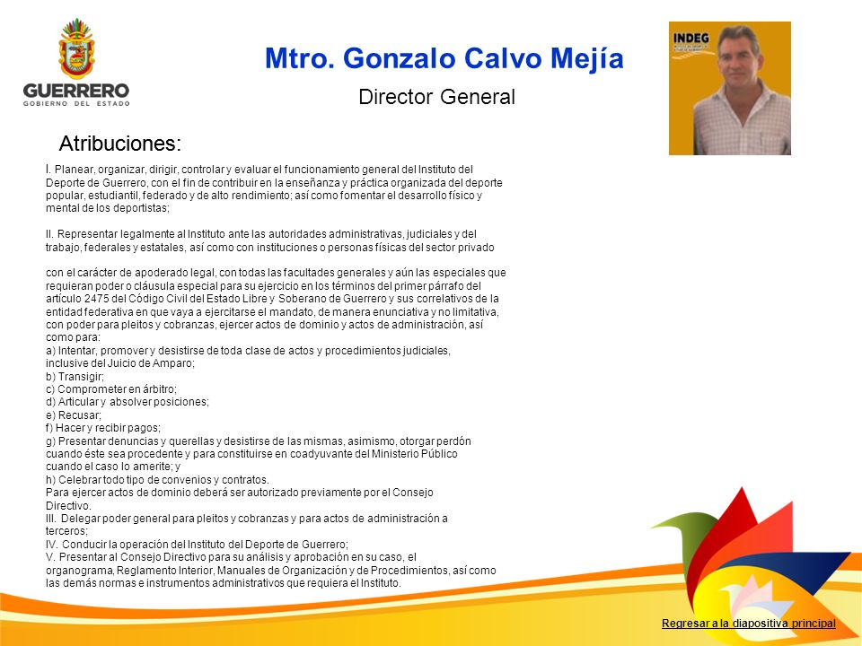 Mtro. Gonzalo Calvo Mejía