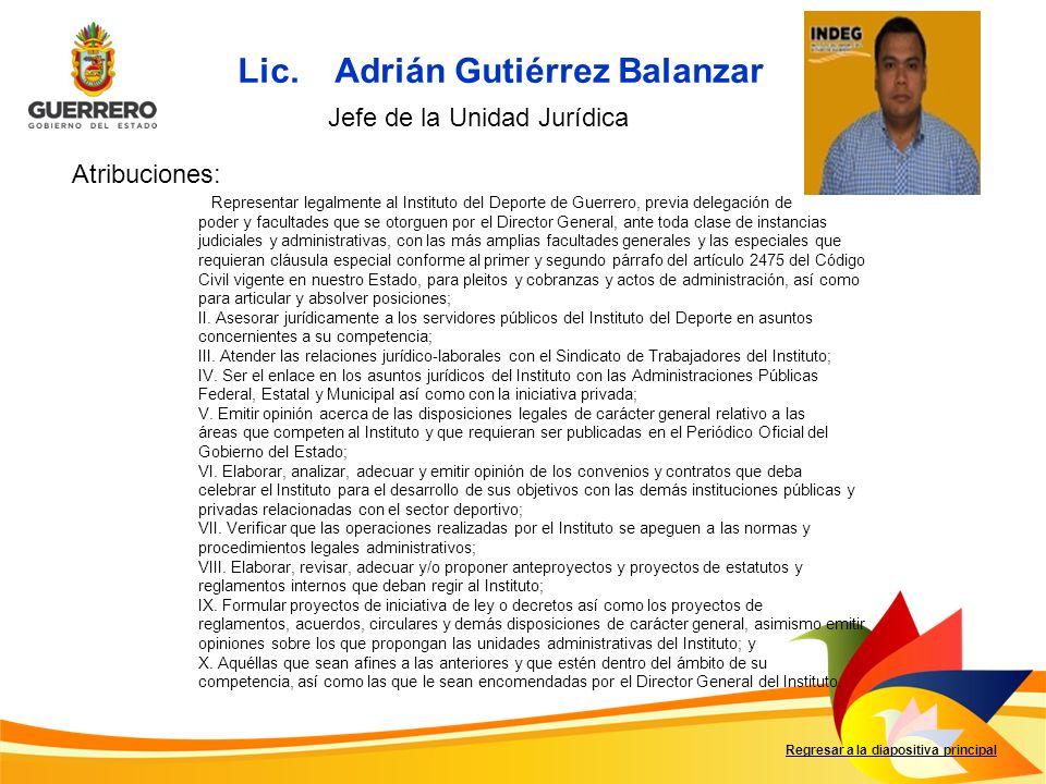 Lic. Adrián Gutiérrez Balanzar