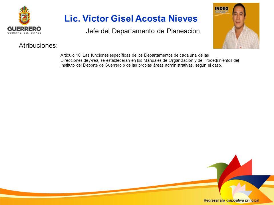 Lic. Víctor Gisel Acosta Nieves