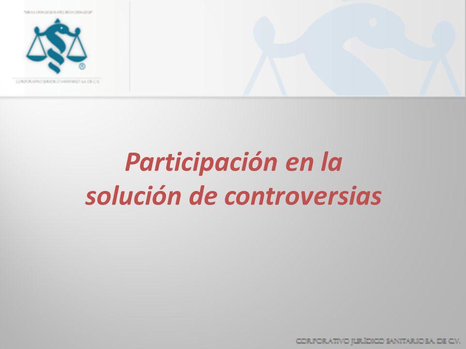 Participación en la solución de controversias