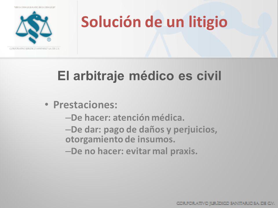 El arbitraje médico es civil