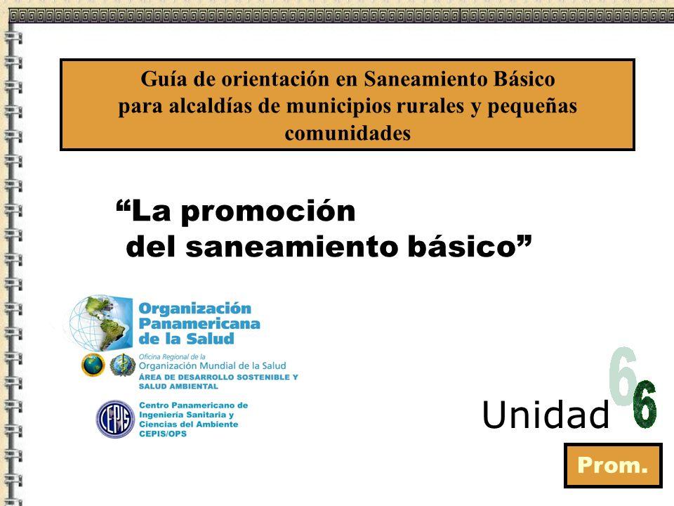 Unidad La promoción del saneamiento básico