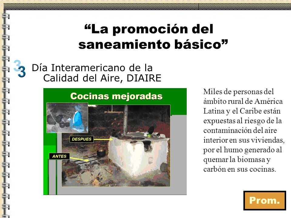 La promoción del saneamiento básico