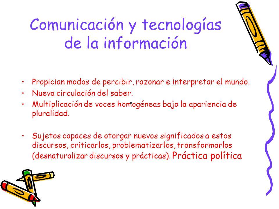 Comunicación y tecnologías de la información