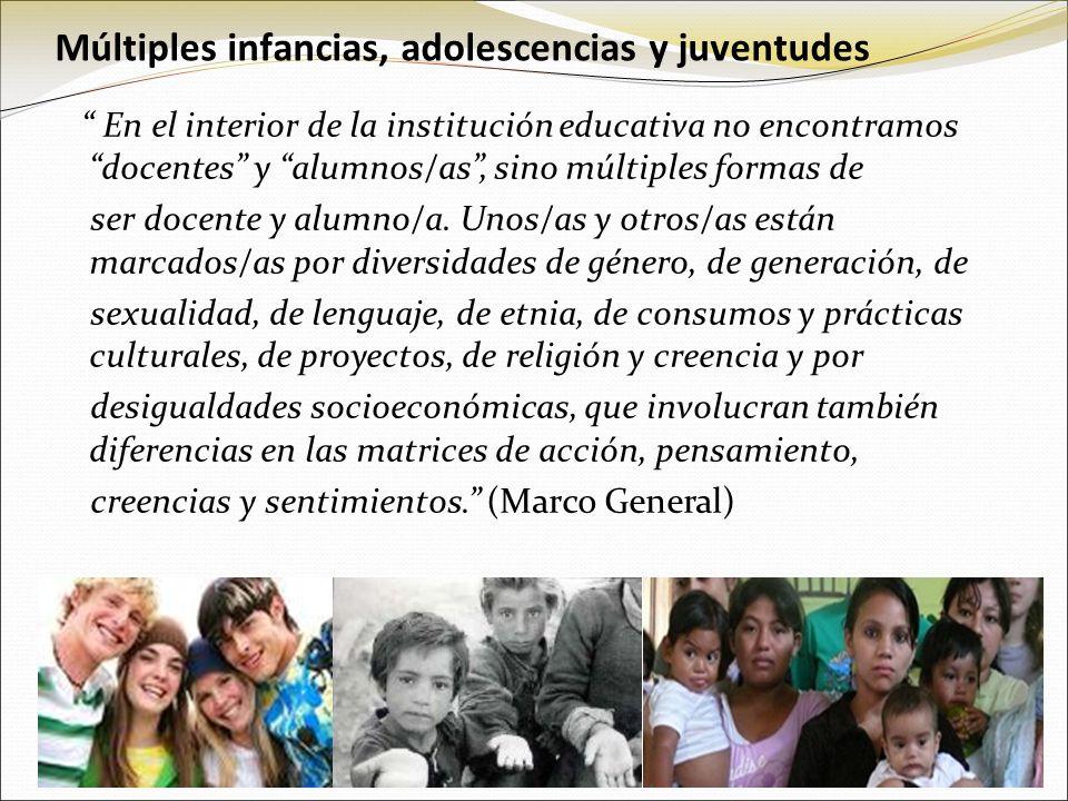 Múltiples infancias, adolescencias y juventudes
