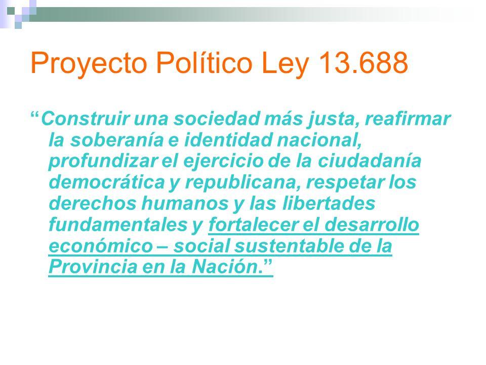 Proyecto Político Ley 13.688