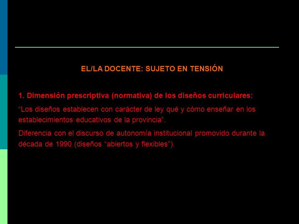 EL/LA DOCENTE: SUJETO EN TENSIÓN