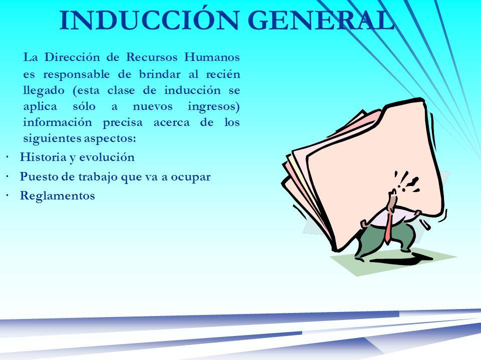 INDUCCIÓN GENERAL