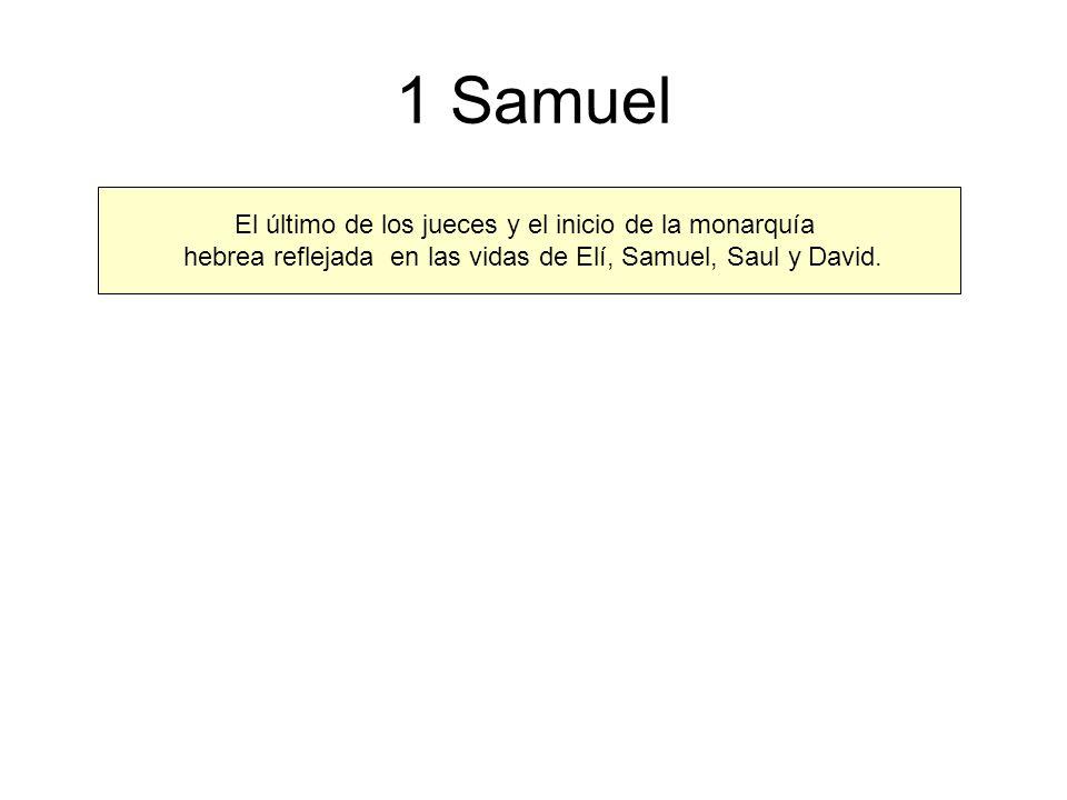 1 Samuel El último de los jueces y el inicio de la monarquía