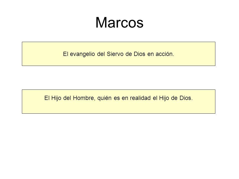 Marcos El evangelio del Siervo de Dios en acción.