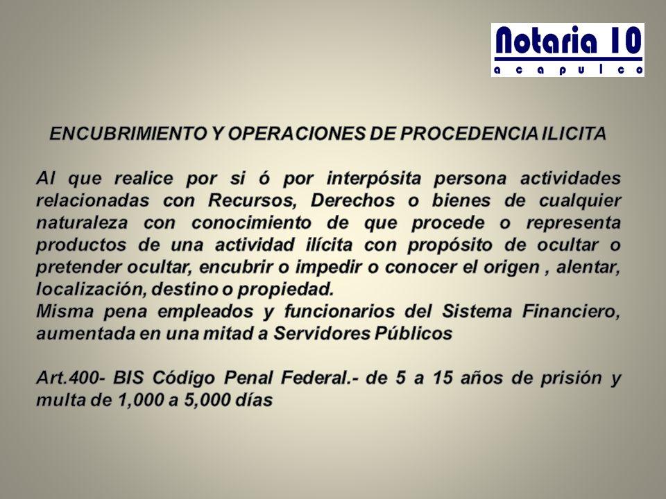 ENCUBRIMIENTO Y OPERACIONES DE PROCEDENCIA ILICITA